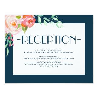 Blooming Botanicals   Wedding Reception Card