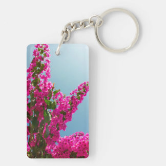Blooming bougainvillea Double-Sided rectangular acrylic key ring