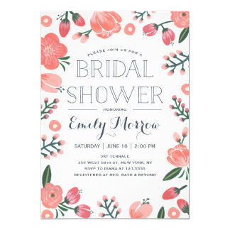 Blooming Bride | Bridal Shower 13 Cm X 18 Cm Invitation Card