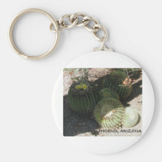 BLOOMING CACTI AND ASSORTED PHRASES BASIC ROUND BUTTON KEY RING