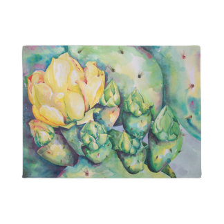 Blooming Cactus Kitchen mat