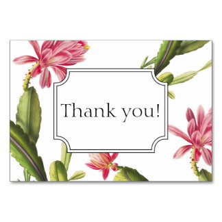 Blooming cactus wedding invitation thank you card