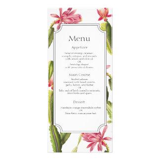 Blooming Cactus wedding menu