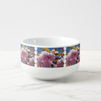Blooming Cherry Blossoms Soup Bowl With Handle