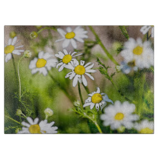 Blooming Daisies Floral Painterly Photograph Cutting Boards