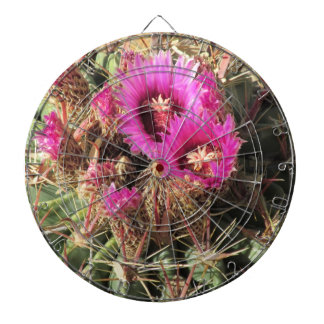 Blooming Devil's Tongue Barrel Cactus Dart Boards