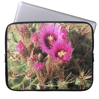 Blooming Devil's Tongue Barrel Cactus Laptop Sleev Laptop Sleeve