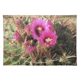 Blooming Devil's Tongue Barrel Cactus Place Mat