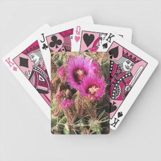 Blooming Devil's Tongue Barrel Cactus Playing Cards