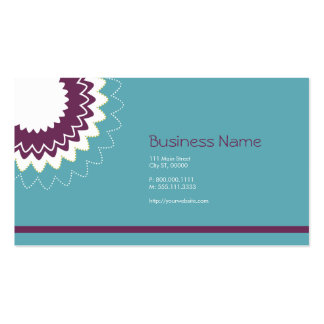 Blooming Flower - Purple, Teal, Green Pack Of Standard Business Cards