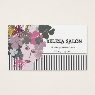 Blooming Goddess Unique Business Fashion Business Card