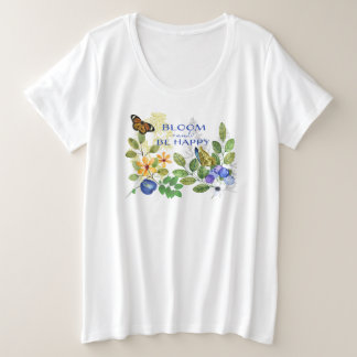 Blooming Happy Meadow Plus Size T-Shirt