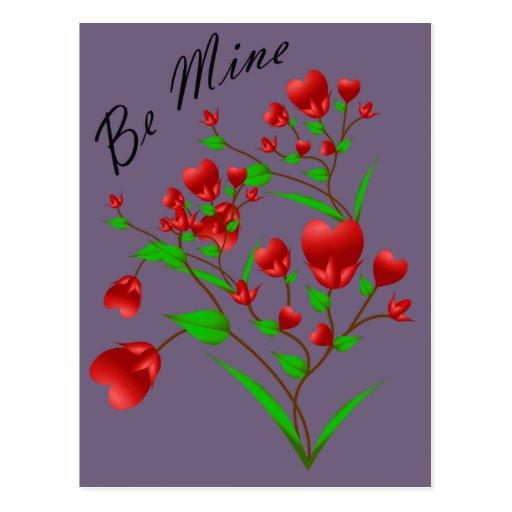 Blooming Hearts Valentine Postcard
