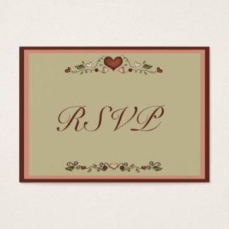 Blooming Hearts Wedding Invitation RSVP Insert