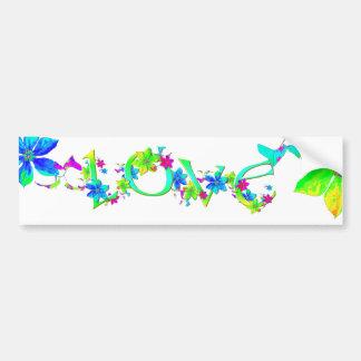 Blooming Love Bumper Sticker