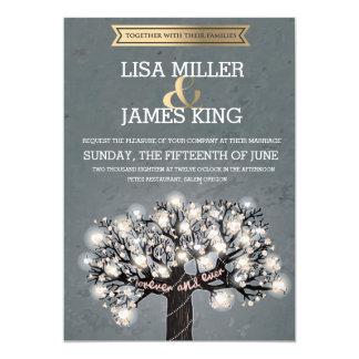 Blooming Love Tree Wedding Invitations