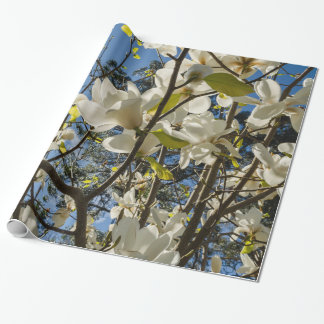 Blooming magnolias wrapping paper