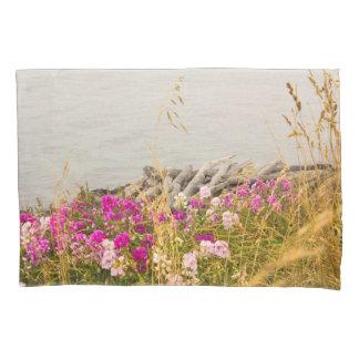 Blooming Ocean Shore Line Pillow Case