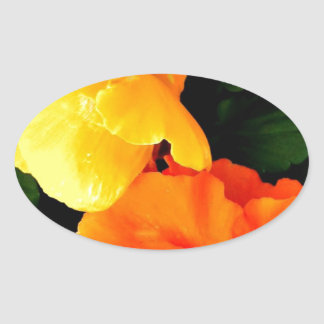 Blooming Oval Sticker