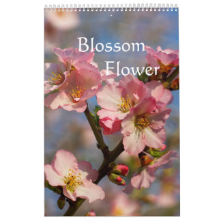 Blooming peach and cherry calendar 2018