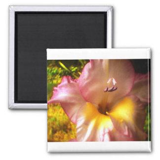 Blooming Pink Flower Magnet