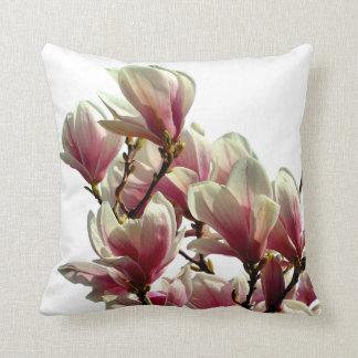 Blooming Pink Magnolia - Spring Flower Cushion