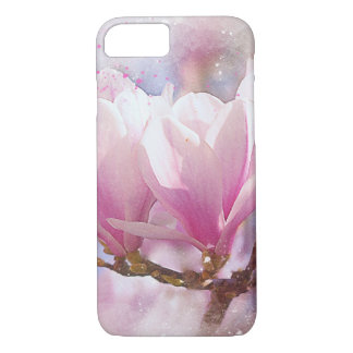 Blooming Pink Purple Magnolia - Spring Flower iPhone 8/7 Case