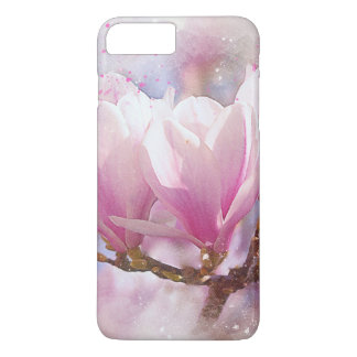 Blooming Pink Purple Magnolia - Spring Flower iPhone 8 Plus/7 Plus Case