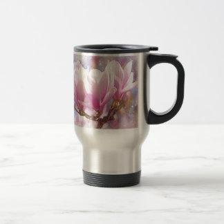 Blooming Pink Purple Magnolia - Spring Flower Travel Mug