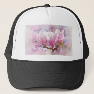 Blooming Pink Purple Magnolia - Spring Flower Trucker Hat
