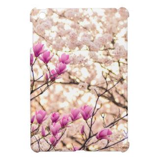 Blooming Pink Purple Magnolias Spring Flower iPad Mini Cover