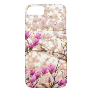 Blooming Pink Purple Magnolias Spring Flower iPhone 8/7 Case