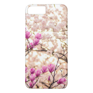 Blooming Pink Purple Magnolias Spring Flower iPhone 8 Plus/7 Plus Case
