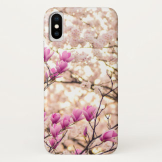 Blooming Pink Purple Magnolias Spring Flower iPhone X Case