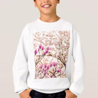 Blooming Pink Purple Magnolias Spring Flower Sweatshirt