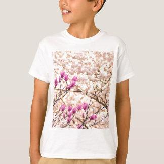 Blooming Pink Purple Magnolias Spring Flower T-Shirt
