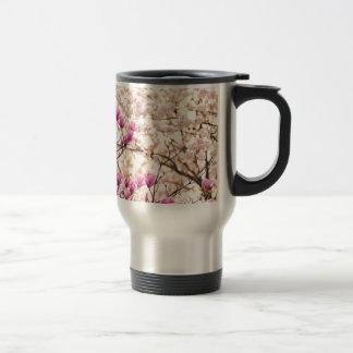 Blooming Pink Purple Magnolias Spring Flower Travel Mug