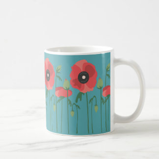 Blooming Poppy Field Mug