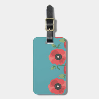 Blooming Poppy Field Print Luggage Tag