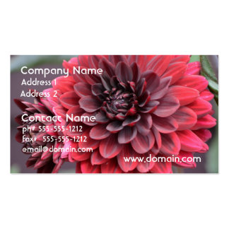 Blooming Red Dahlias Business Cards