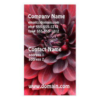 Blooming Red Dahlias Business Card