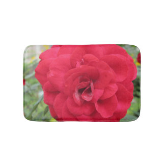 Blooming Red Rose Flower Bath Mats