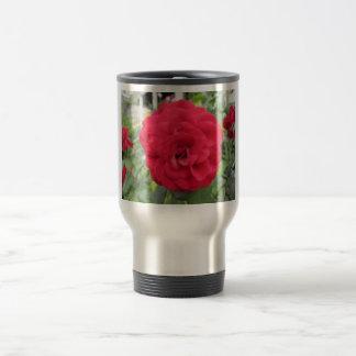 Blooming Red Rose Flower Mug
