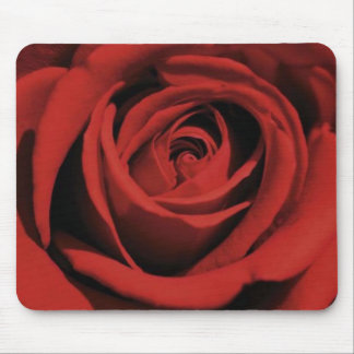 Blooming Red Rose Mousepad