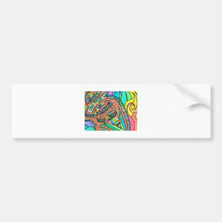 Blooming Ribbons Bumper Sticker