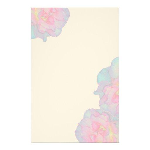 Blooming Rose Custom Stationery