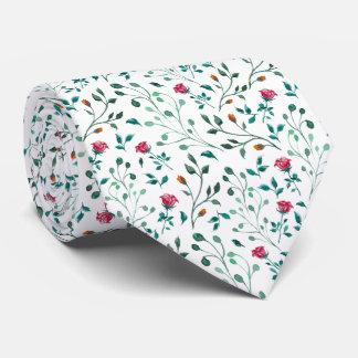 Blooming Rose Watercolor Pattern Tie