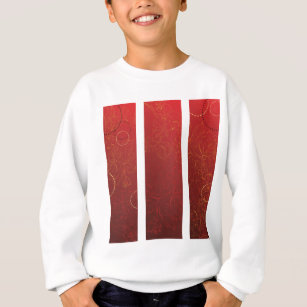 Blooming Sakura red background Sweatshirt