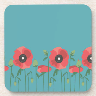 Blooming Springtime Poppies Coaster