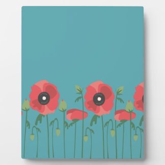 Blooming Springtime Poppies Photo Plaque